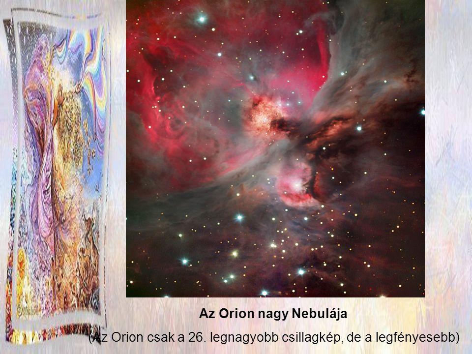 (Az Orion csak a 26. legnagyobb csillagkép, de a legfényesebb)