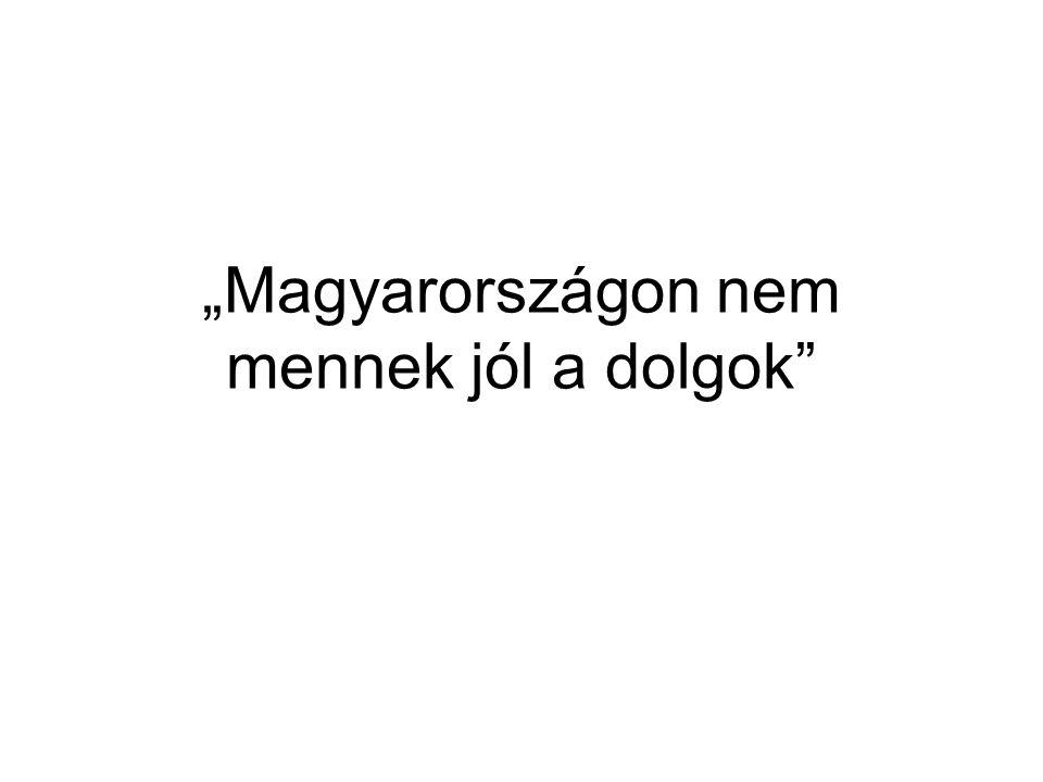 """""""Magyarországon nem mennek jól a dolgok"""