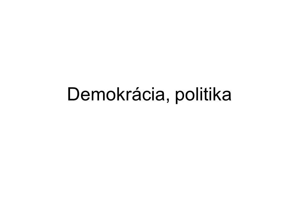 Demokrácia, politika