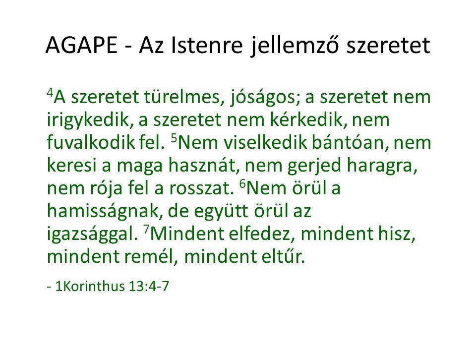 AGAPE - Az Istenre jellemző szeretet