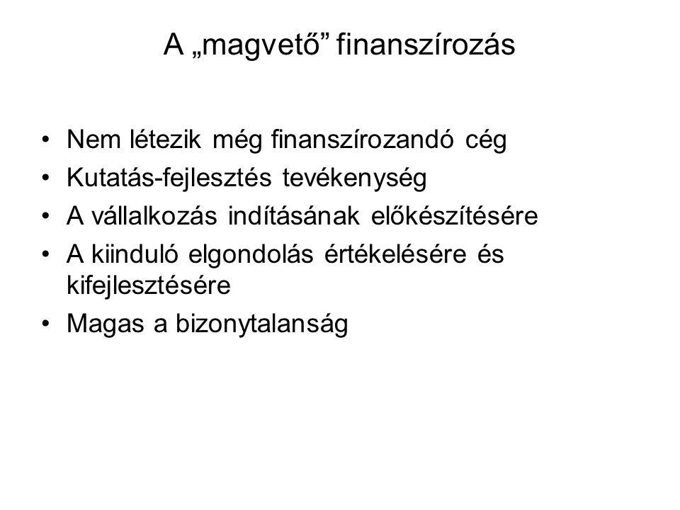 """A """"magvető finanszírozás"""