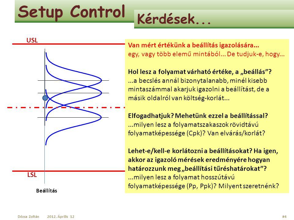Setup Control Kérdések... USL