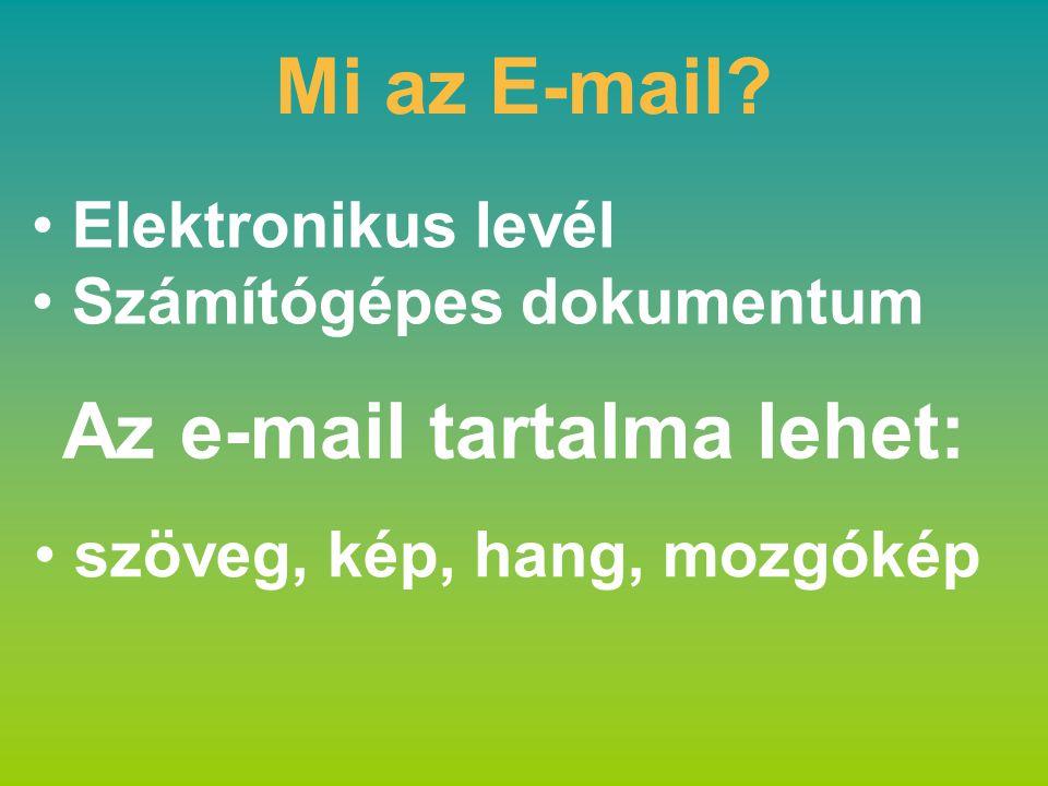 Elektronikus levél Számítógépes dokumentum