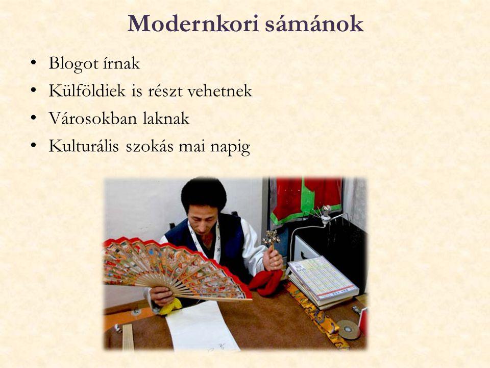 Modernkori sámánok Blogot írnak Külföldiek is részt vehetnek
