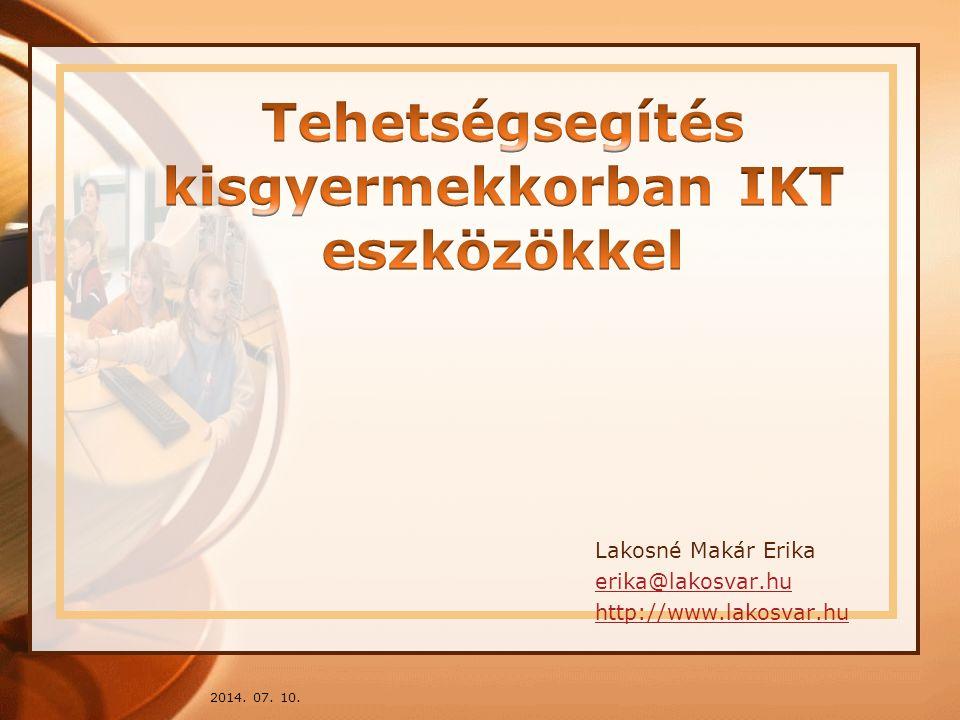 Tehetségsegítés kisgyermekkorban IKT eszközökkel