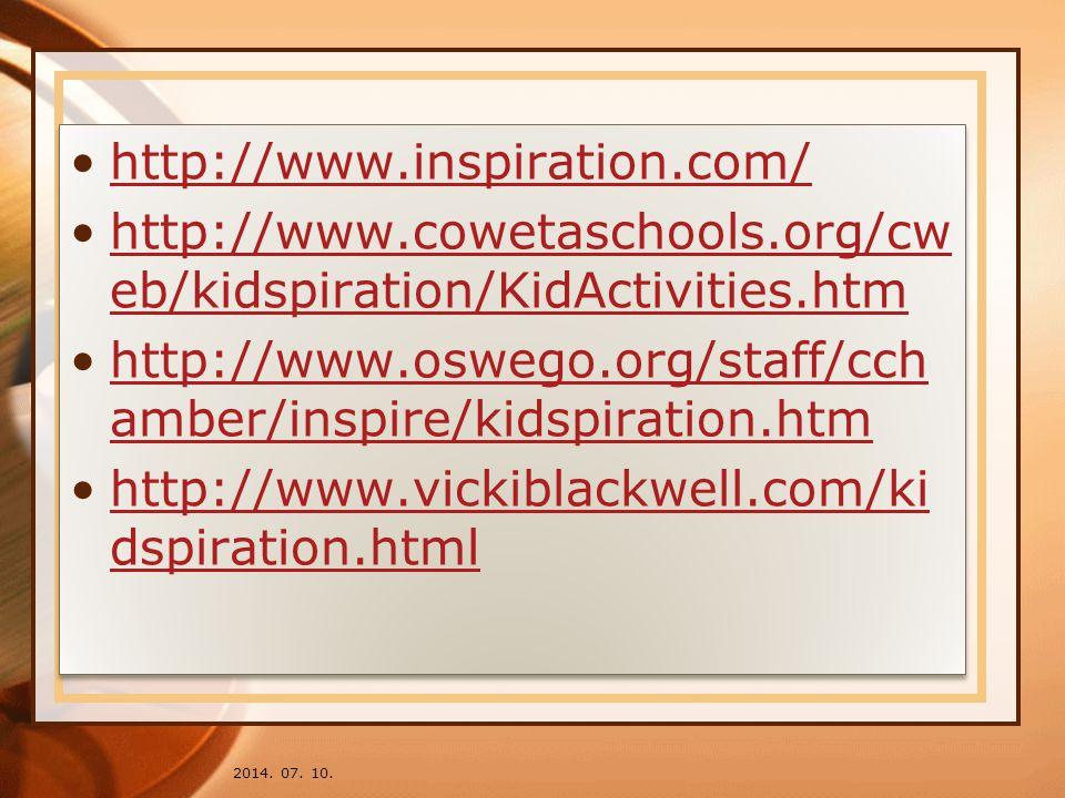 http://www.inspiration.com/ http://www.cowetaschools.org/cweb/kidspiration/KidActivities.htm.