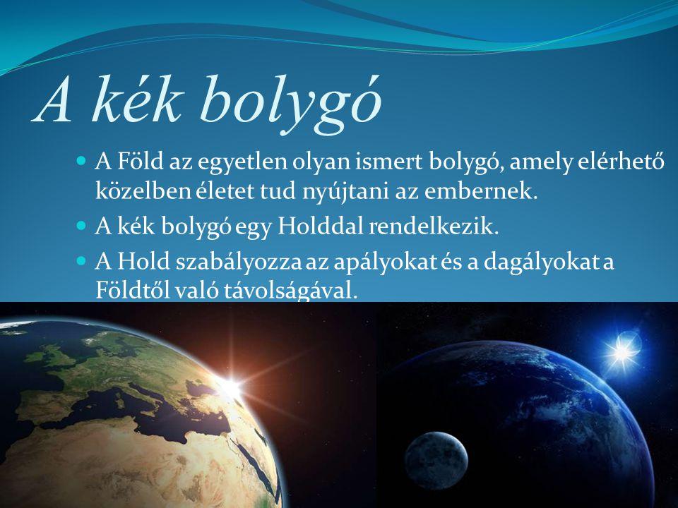 A kék bolygó A Föld az egyetlen olyan ismert bolygó, amely elérhető közelben életet tud nyújtani az embernek.