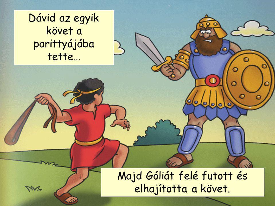 Dávid az egyik követ a parittyájába tette…