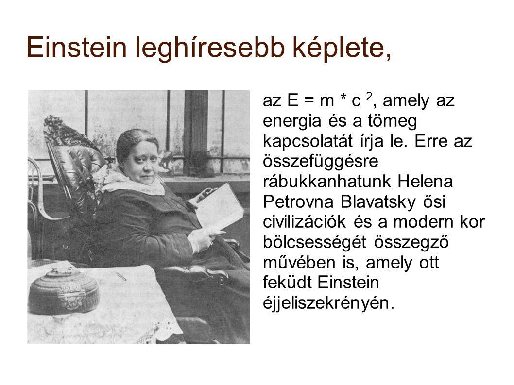Einstein leghíresebb képlete,