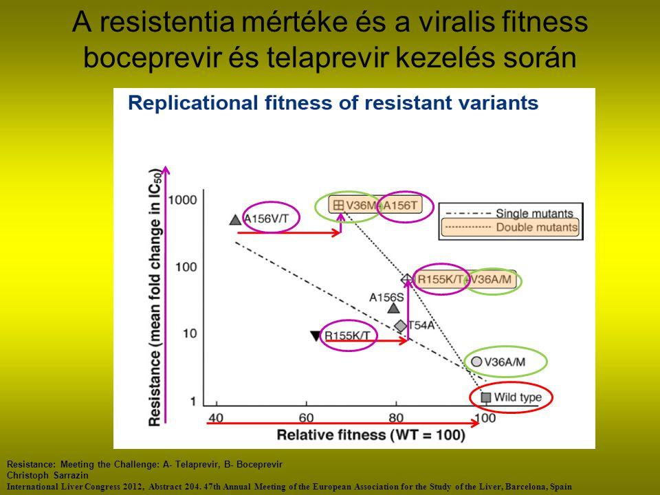 A resistentia mértéke és a viralis fitness boceprevir és telaprevir kezelés során