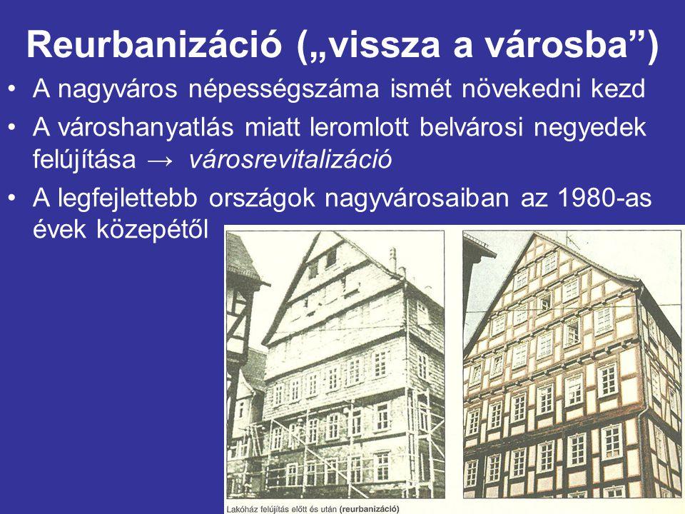 """Reurbanizáció (""""vissza a városba )"""