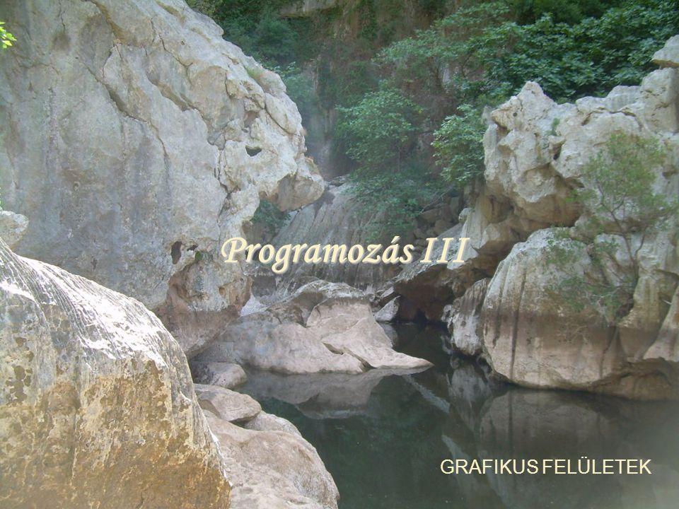Programozás III GRAFIKUS FELÜLETEK