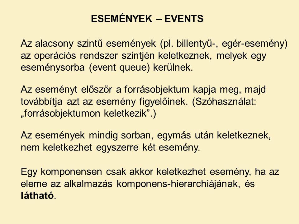 ESEMÉNYEK – EVENTS