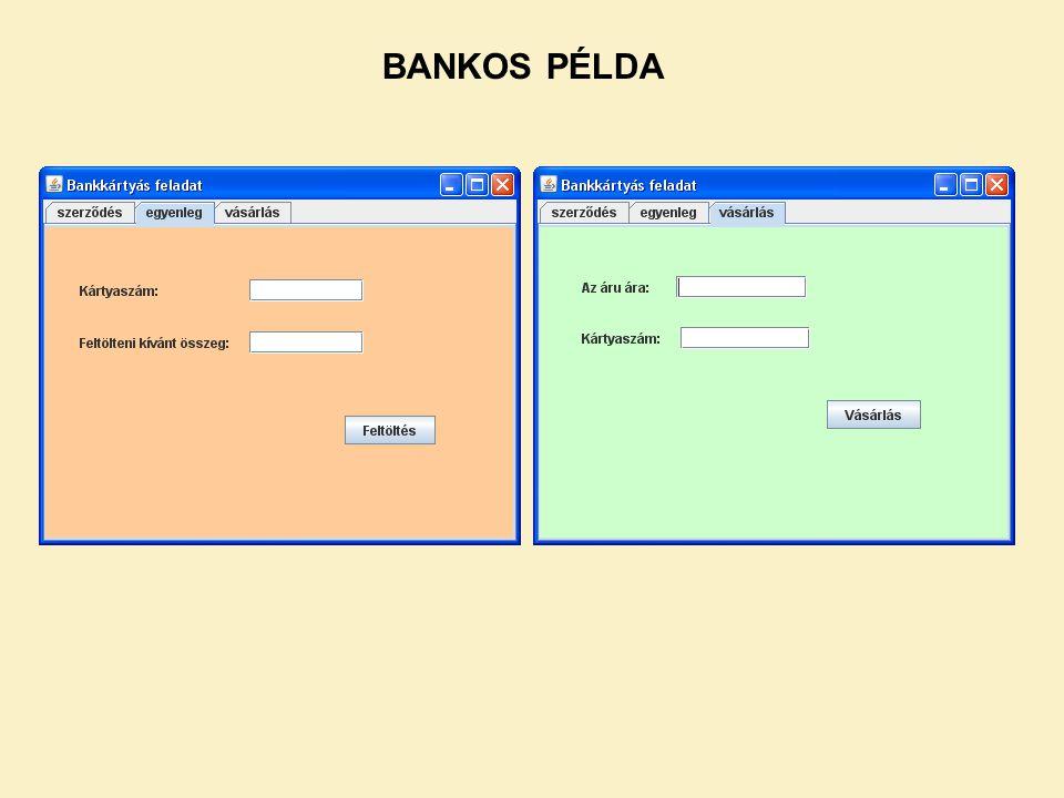 BANKOS PÉLDA