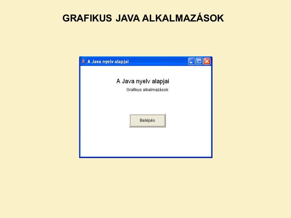 GRAFIKUS JAVA ALKALMAZÁSOK