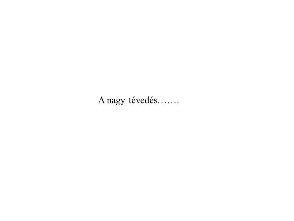 A nagy tévedés…….
