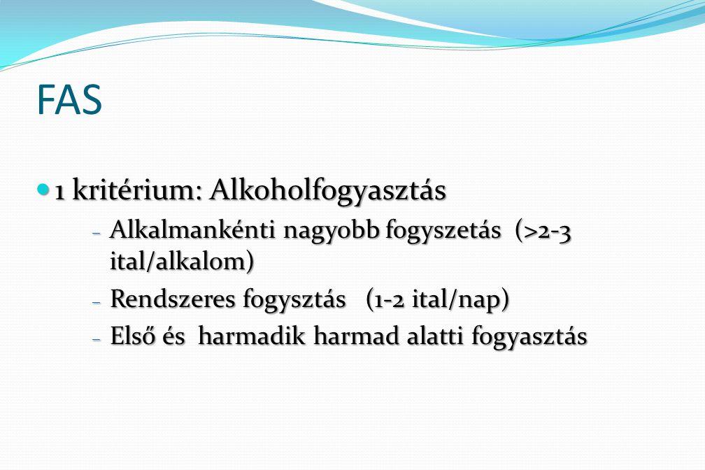 FAS 1 kritérium: Alkoholfogyasztás