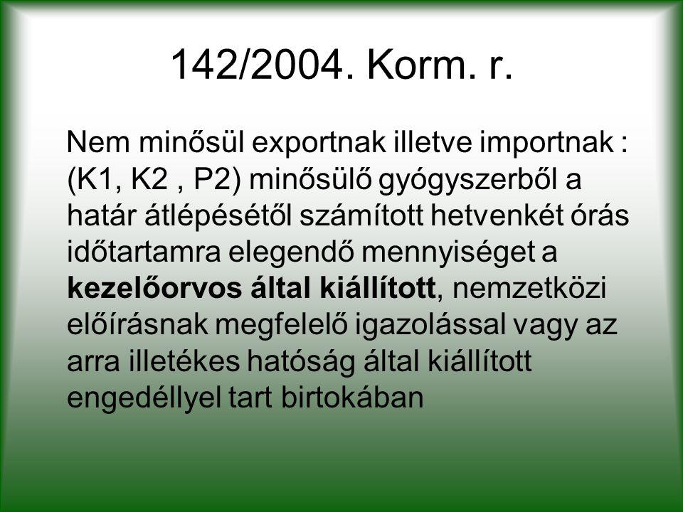 142/2004. Korm. r.