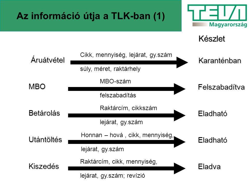 Az információ útja a TLK-ban (1)
