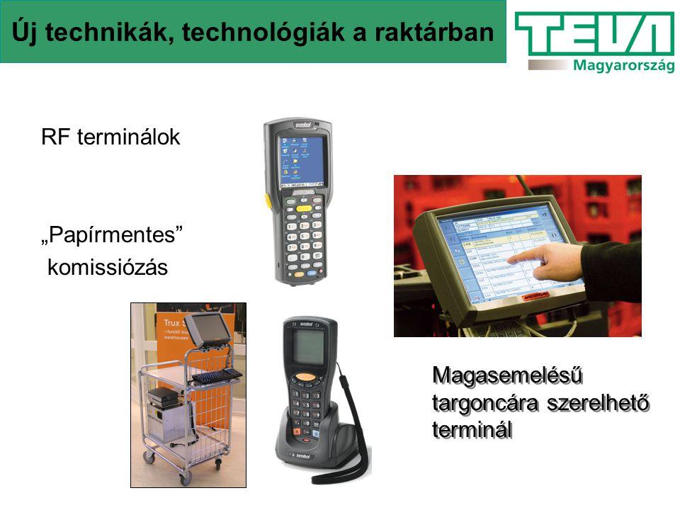 Új technikák, technológiák a raktárban