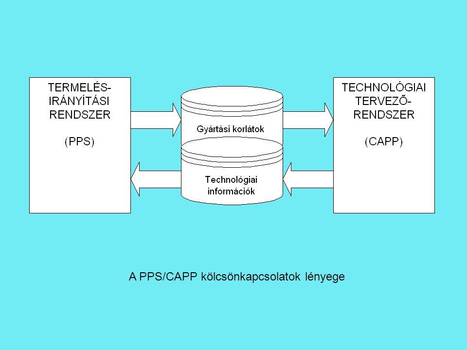 A PPS/CAPP kölcsönkapcsolatok lényege