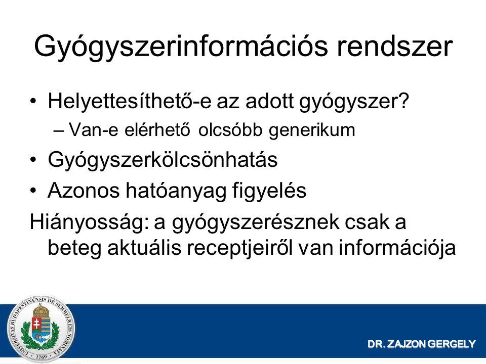 Gyógyszerinformációs rendszer