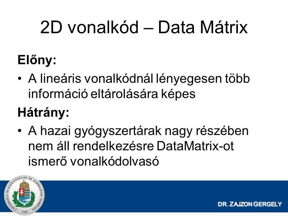 2D vonalkód – Data Mátrix