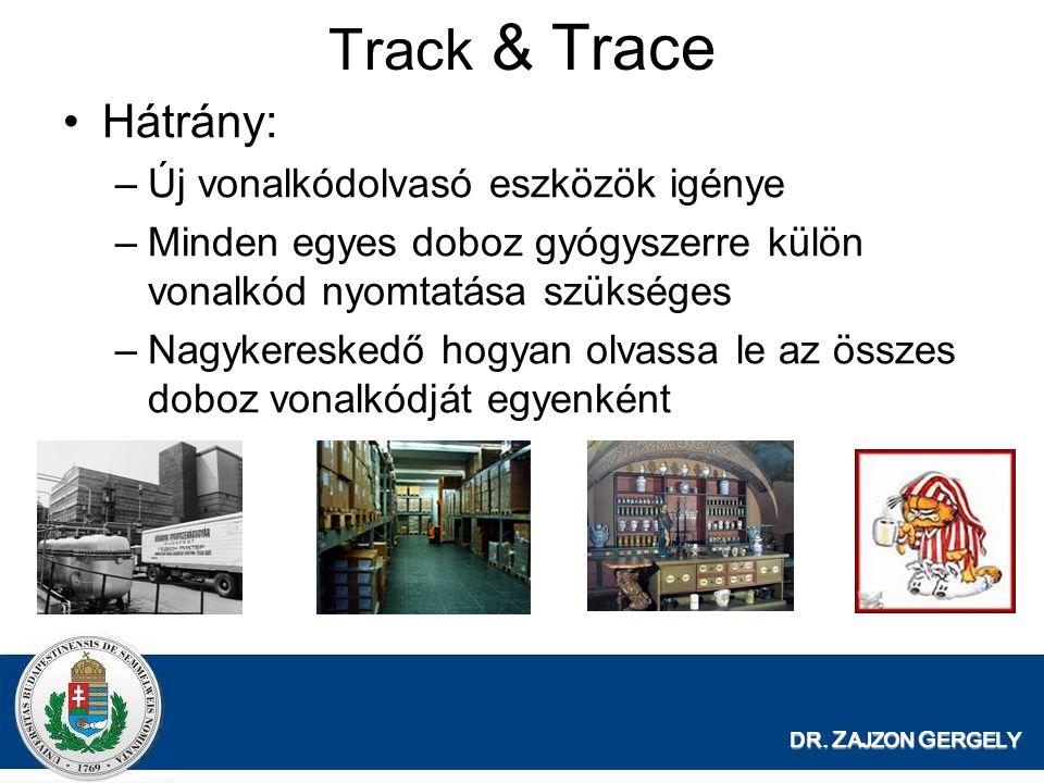 Track & Trace Hátrány: Új vonalkódolvasó eszközök igénye