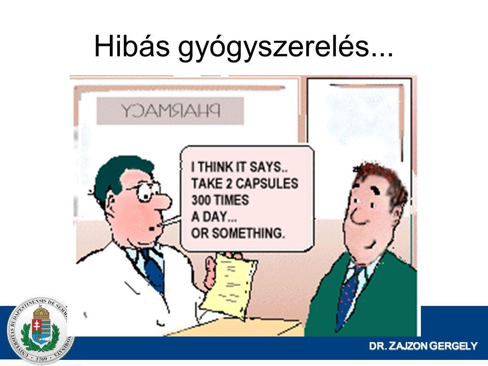 Hibás gyógyszerelés... DR. ZAJZON GERGELY