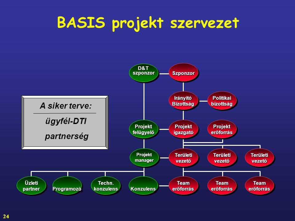 BASIS projekt szervezet