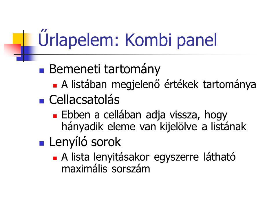 Űrlapelem: Kombi panel