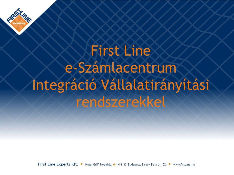 First Line e-Számlacentrum Integráció Vállalatirányítási rendszerekkel
