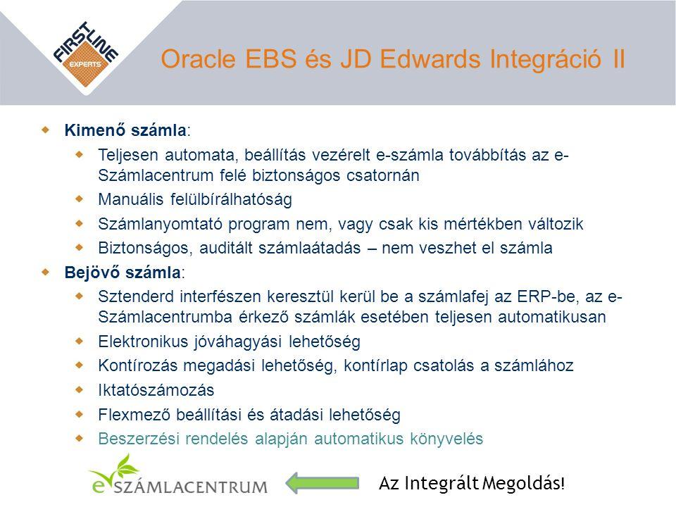 Oracle EBS és JD Edwards Integráció II