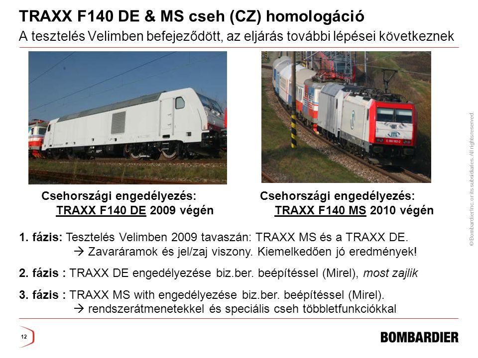 TRAXX F140 DE & MS cseh (CZ) homologáció A tesztelés Velimben befejeződött, az eljárás további lépései következnek