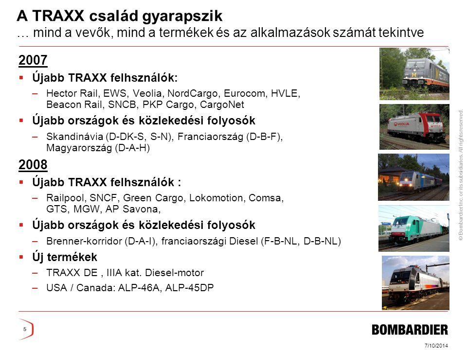 A TRAXX család gyarapszik … mind a vevők, mind a termékek és az alkalmazások számát tekintve