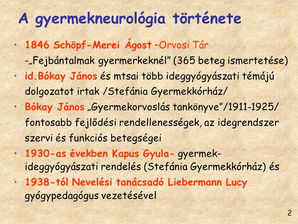 A gyermekneurológia története