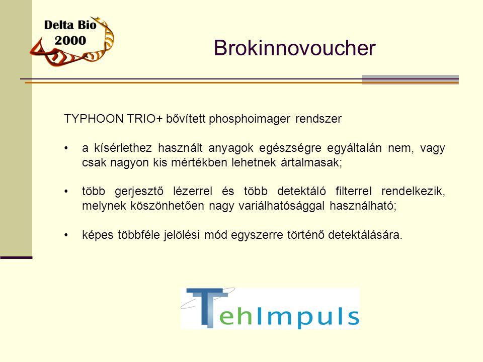 Brokinnovoucher TYPHOON TRIO+ bővített phosphoimager rendszer