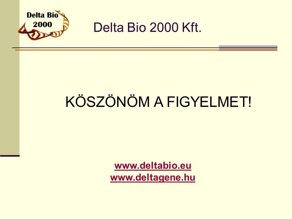 KÖSZÖNÖM A FIGYELMET! Delta Bio 2000 Kft. www.deltabio.eu