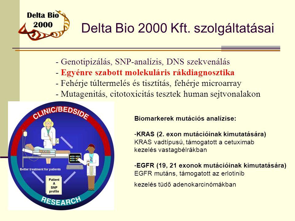 Delta Bio 2000 Kft. szolgáltatásai