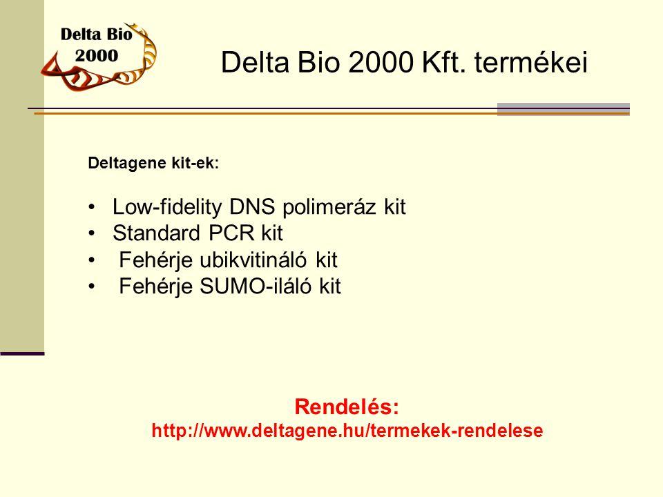 Delta Bio 2000 Kft. termékei Low-fidelity DNS polimeráz kit