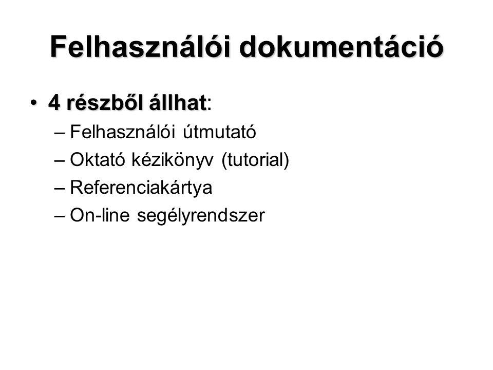 Felhasználói dokumentáció
