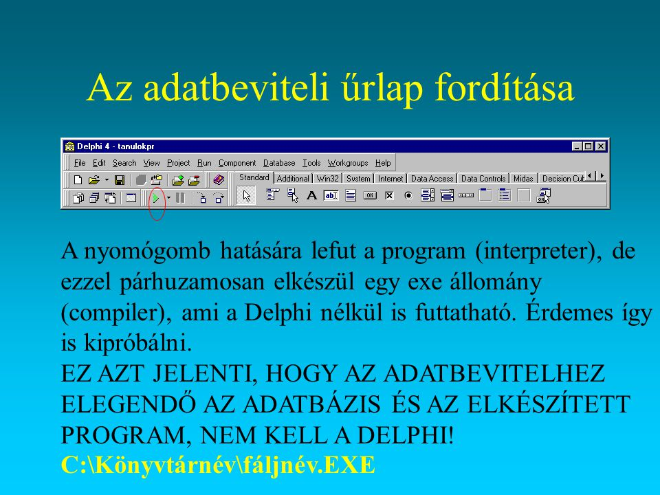Az adatbeviteli űrlap fordítása
