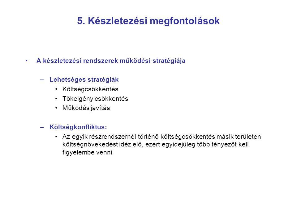 5. Készletezési megfontolások