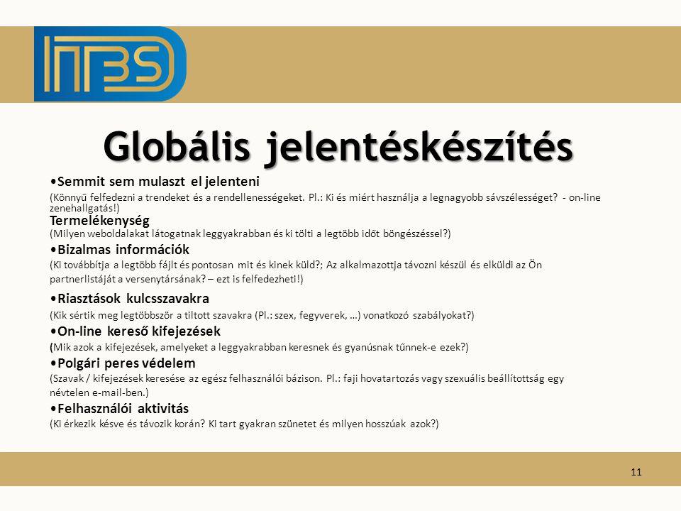 Globális jelentéskészítés