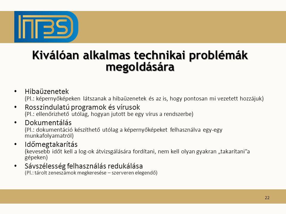 Kiválóan alkalmas technikai problémák megoldására