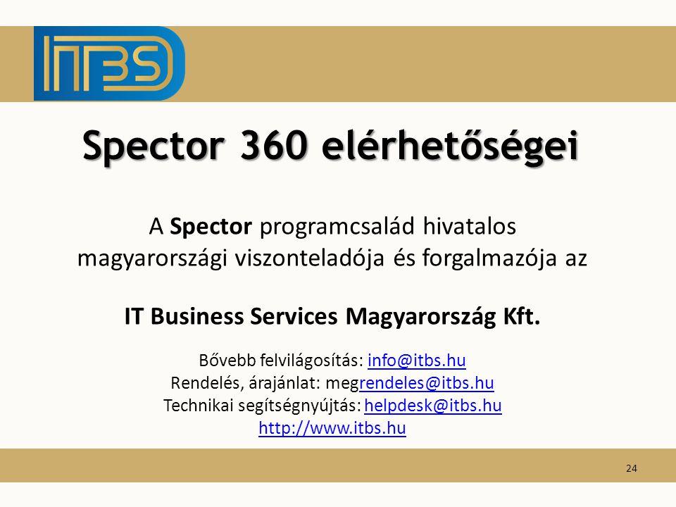 Spector 360 elérhetőségei IT Business Services Magyarország Kft.