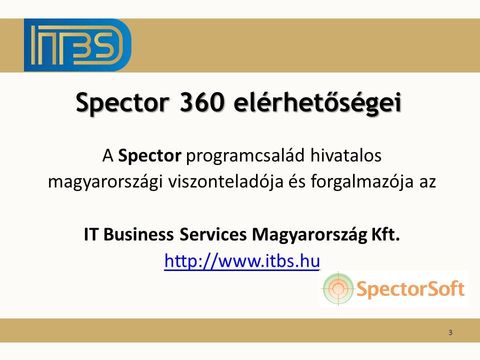 Spector 360 elérhetőségei