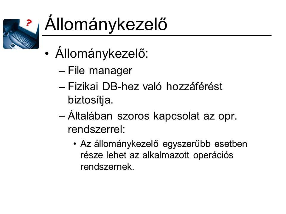 Állománykezelő Állománykezelő: File manager