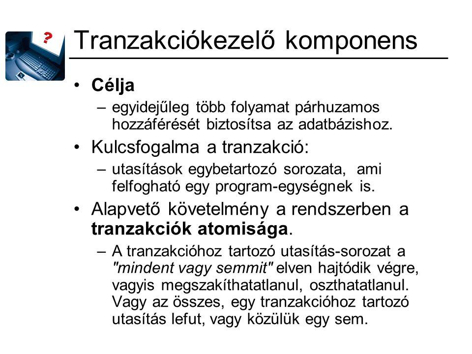 Tranzakciókezelő komponens