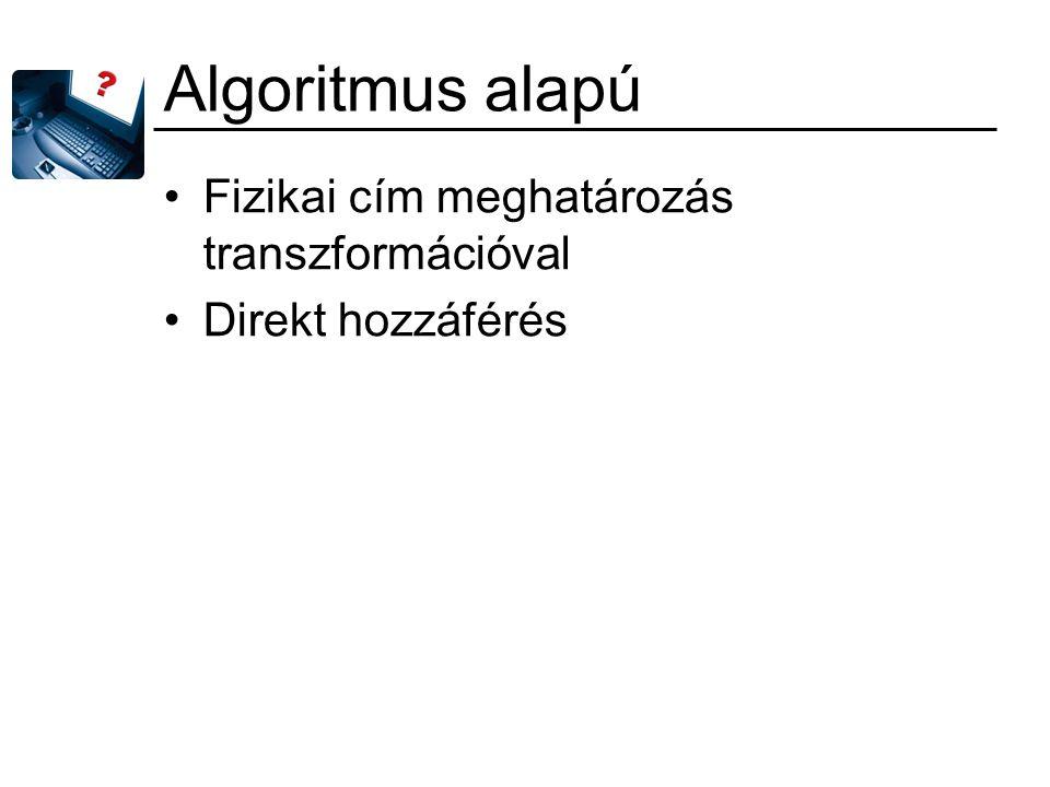 Algoritmus alapú Fizikai cím meghatározás transzformációval